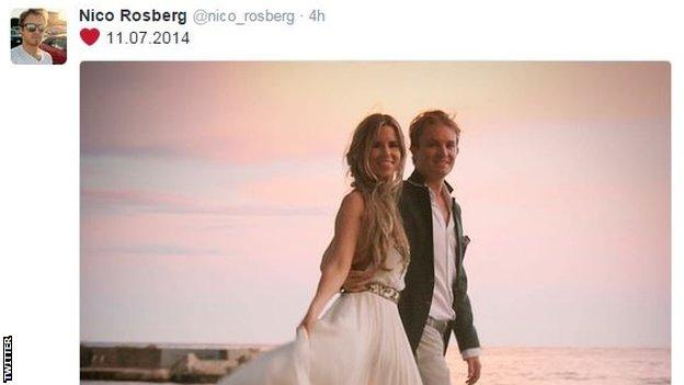 Nico Rosberg and wife Vivian Sibold