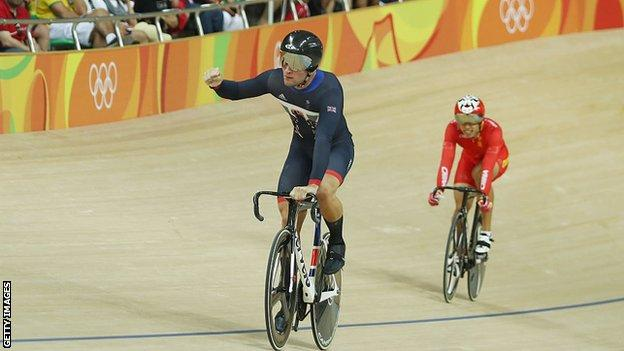 Callum Skinner won team sprint gold and individual sprint silver at Rio 2016