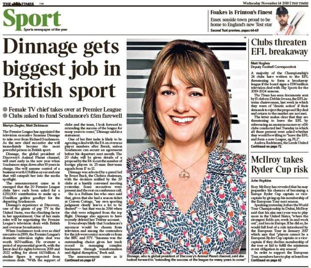 Times sports page