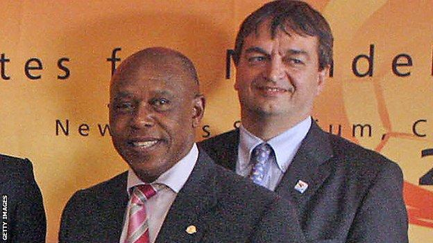Tokyo Sexwale and Jerome Champagne