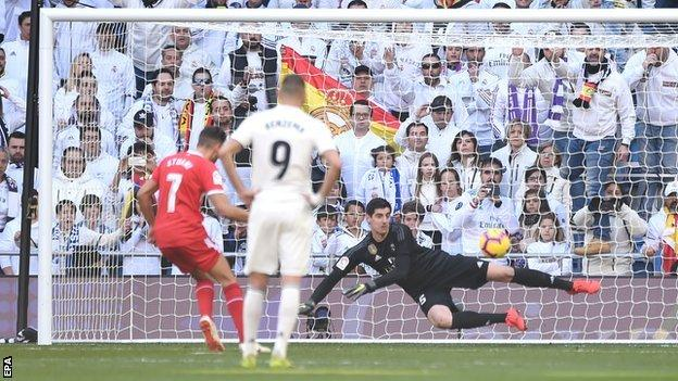 Ramos sent off as Real Madrid suffer shock home loss to Girona