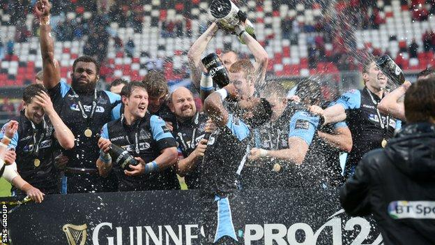 Glasgow Warriors are the defending Pro12 champions