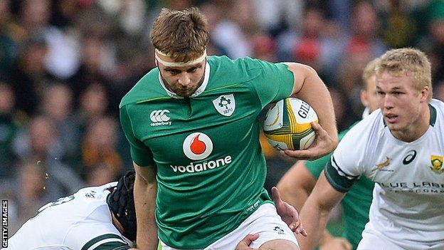 Iain Henderson in action against South Africa in Port Elizabeth