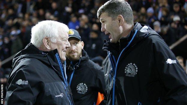 Tony Rowe (left) and Rob Baxter (right)
