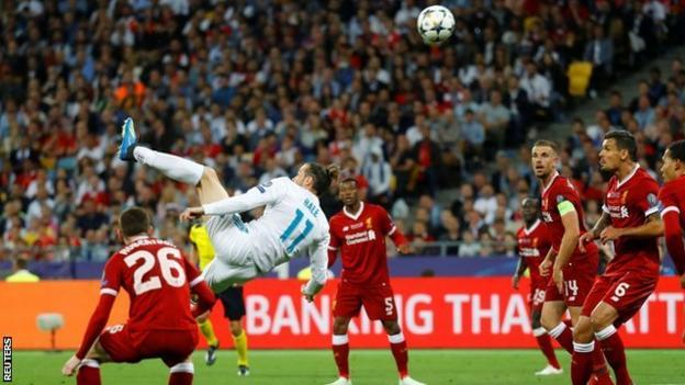 Gareth Bale scoring for Real Madrid