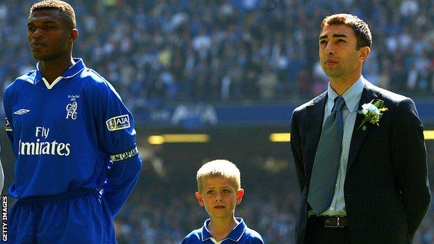 Marcel Desailly and Roberto Di Matteo at Chelsea