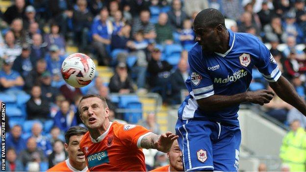 Bruno Manga in action for Cardiff City