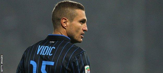 Vidic's contract with Inter Milan was ended by mutual consent on 18 January