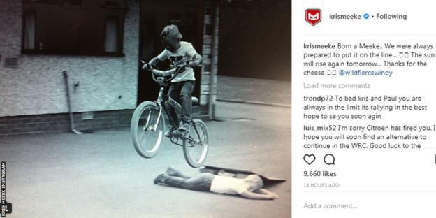 Kris Meeke instagram post