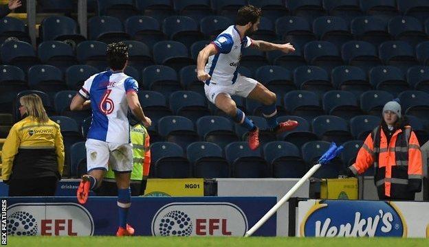 Charlie Mulgrew celebrates his winner against Newcastle