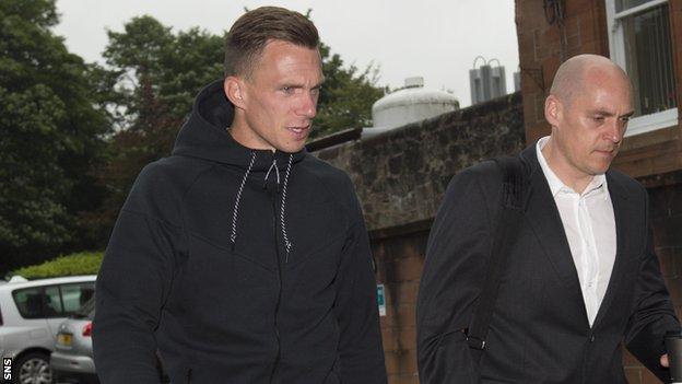 Dorus de Vries arrives for his medical in Glasgow on Friday