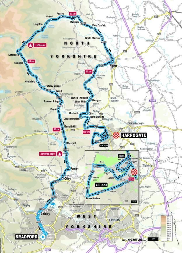 Elite women's road race route