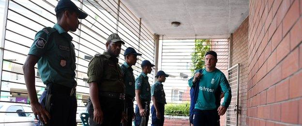 The England players will be given extra security everywhere within Bangladesh