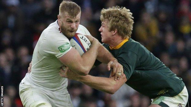George Kruis in action for England
