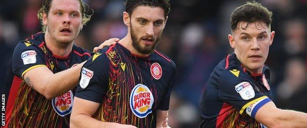 Stevenage's away kit for 2019-20