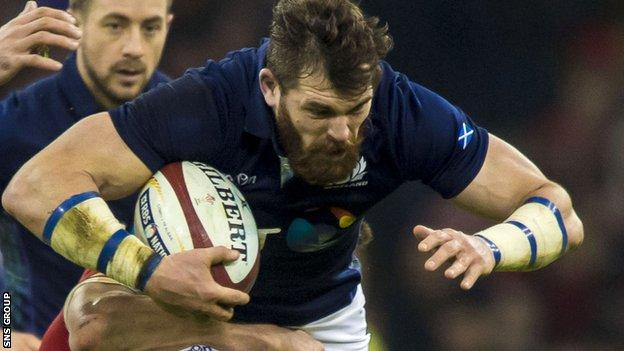 Sean Lamont in action for Scotland