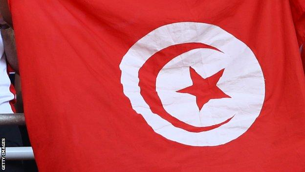 The Tunisian flag