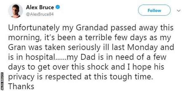 Alex Bruce tweet
