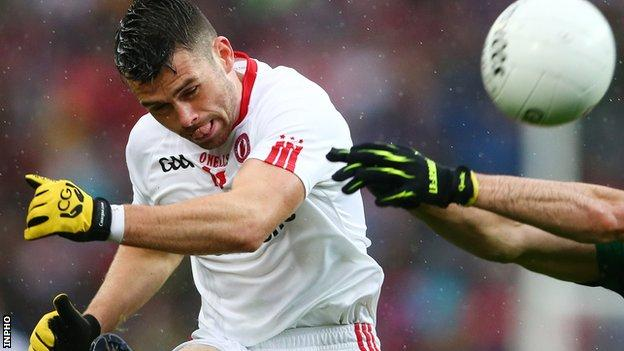 Tyrone forward Darren McCurry returns to the team for the Division Two clash with Galway