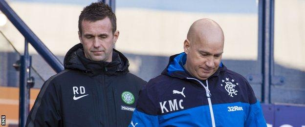 Celtic's Ronny Deila and former Rangers manager Kenny McDowell