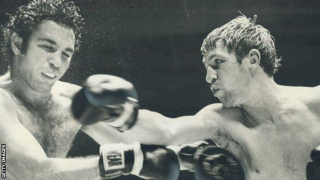 Ken Buchanan (right) held the WBC and WBA world titles in 1971