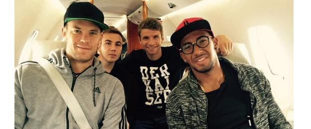 Four German players enjoyed a luxury trip back to Munich