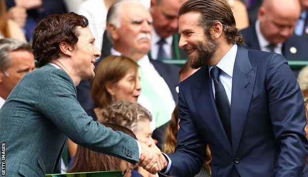 Benedict Cumberbatch and Bradley Cooper (right)