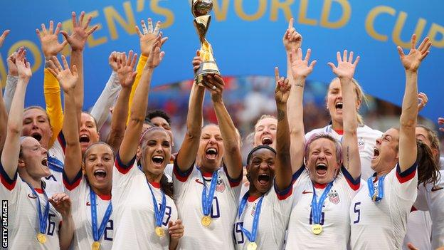 Carli Lloyd and the rest of the US Women's soccer team