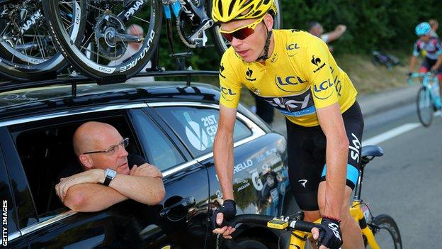 Dave Brailsford and Chris Froome