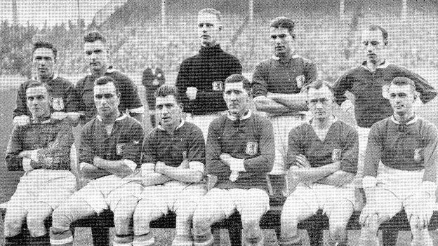 Wales team that face Scotland in 1930