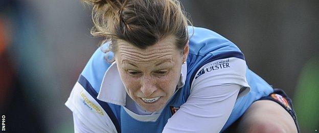 Megan Frazer scored but Ulster Elks lost 6-3 to Dublin club Hermes