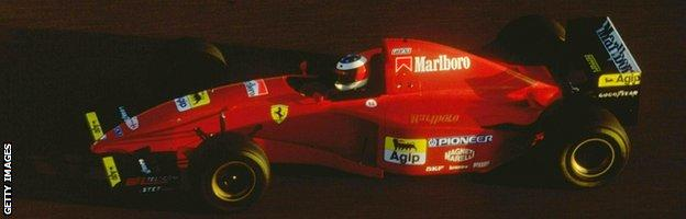 Michael Schumacher in action for Ferrari