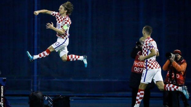 Modric's penalty got Croatia off to the perfect start in front of their fans at Zagreb's Stadion Maksimir