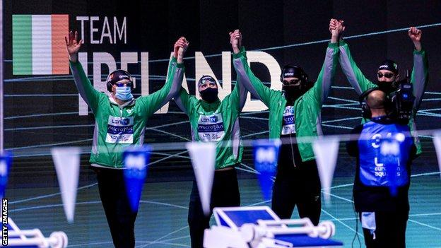 Shane Ryan, Darragh Greene, Jack McMillan and Brendan Hyland were set to race at Tokyo in the men's 4x100m medley relay