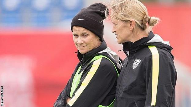 Jill Ellis (left) and Dawn Scott (right)