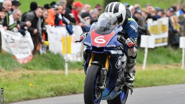 William Dunlop in action at last weekend's Tandragee 100