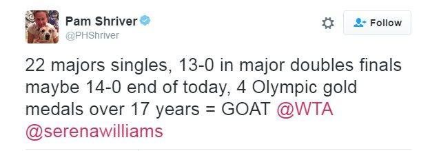 Pam Shriver tweet