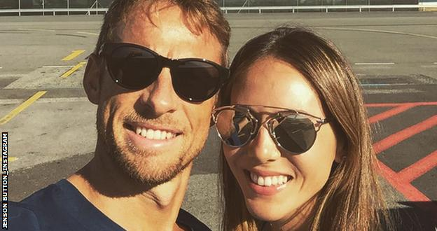 Jenson Button and wife Jessica