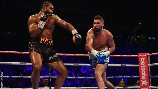 Tony Bellew takes the fight to David Haye