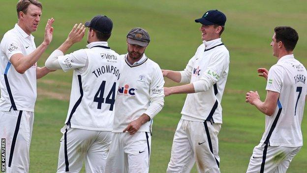 Yorkshire skipper Steven Patterson's 4-34 took him to 30 Championship scalps for the season - and 450 for his career
