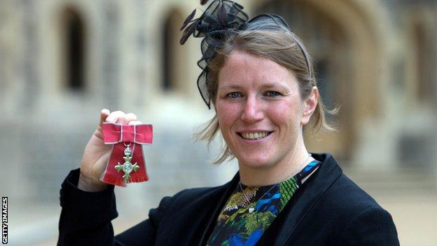 Rochelle Clark was awarded an MBE for services to rugby in the 2015 New Year's Honours List