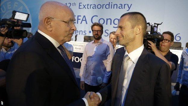Michael van Praag and Aleksander Ceferin