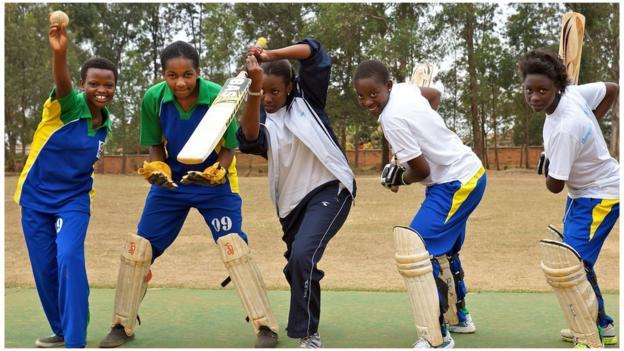 Rwandan cricket players
