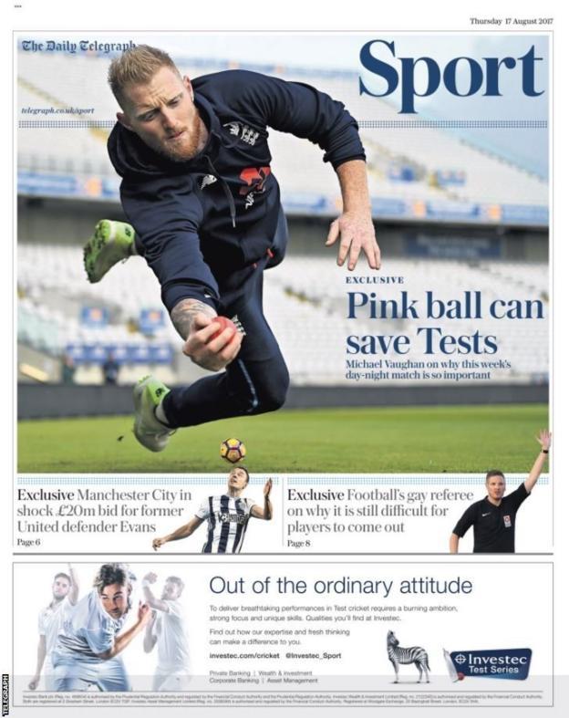 Thursday's Telegraph Sport