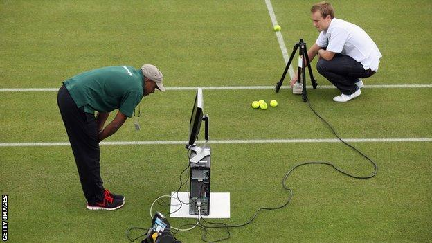 Hawk-Eye technology at Wimbledon