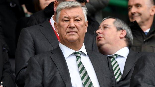 Celtic chief executive Peter Lawwell at Easter Road