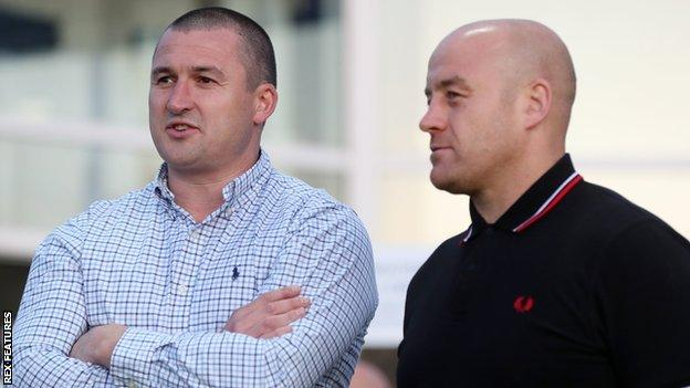 Rival coaches Chris Chester (left) and Danny Ward were team-mate together for a season at Hull KR in 2007