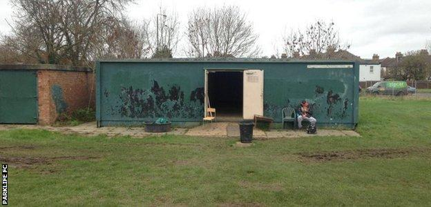 The changing rooms at Raynes Park