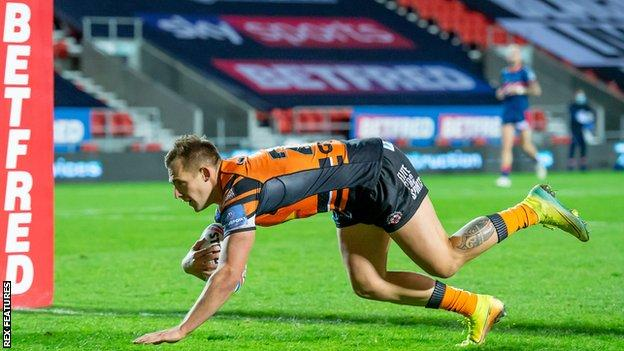 Greg Eden has now scored in three successive games for Castleford