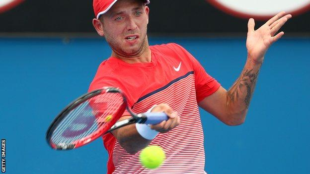 Dan Evans won his opening qualifying match at the Australian Open on a day where temperatures in Melbourne reached 42 degrees